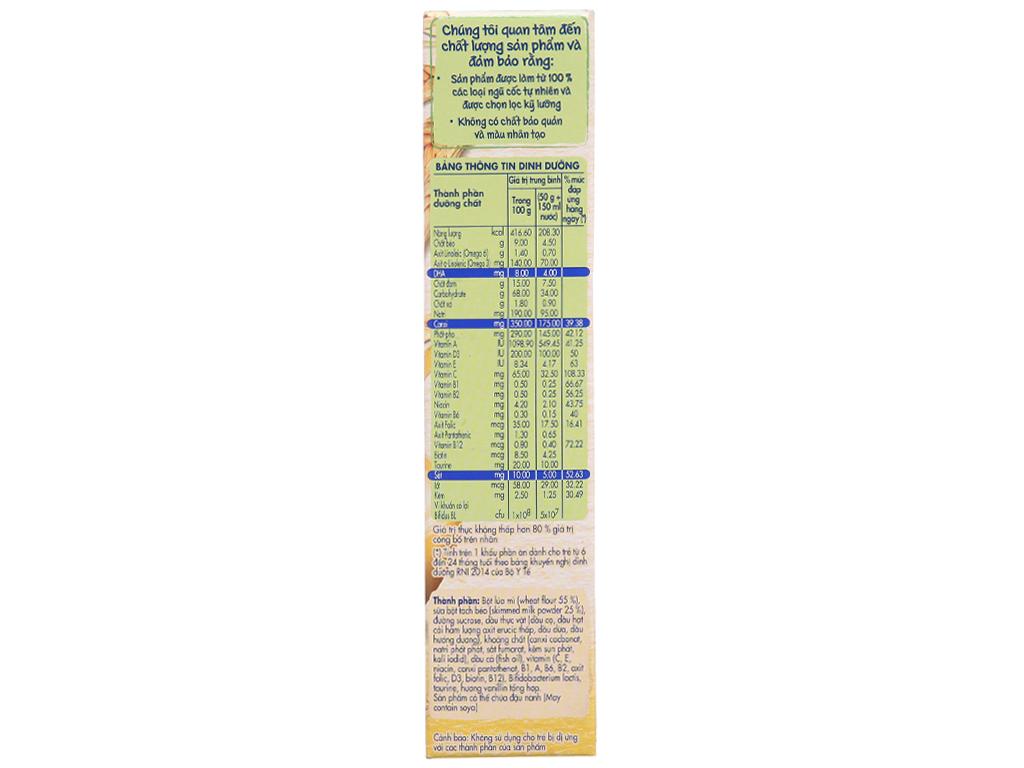 Bột ăn dặm Nestlé Cerelac lúa mì sữa trên 6 tháng 200g 4