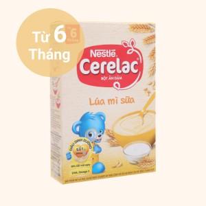 Bột ăn dặm Nestlé Cerelac lúa mì sữa hộp 200g (từ 6 tháng)