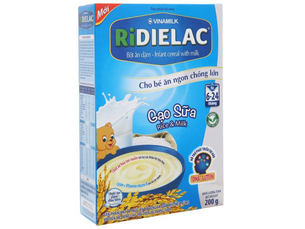 Bột ăn dặm Ridielac gạo sữa 6 - 24 tháng 200g 2