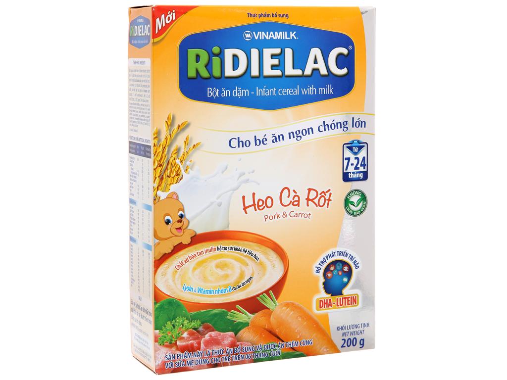 Bột ăn dặm Ridielac heo cà rốt 7 - 24 tháng 200g 2