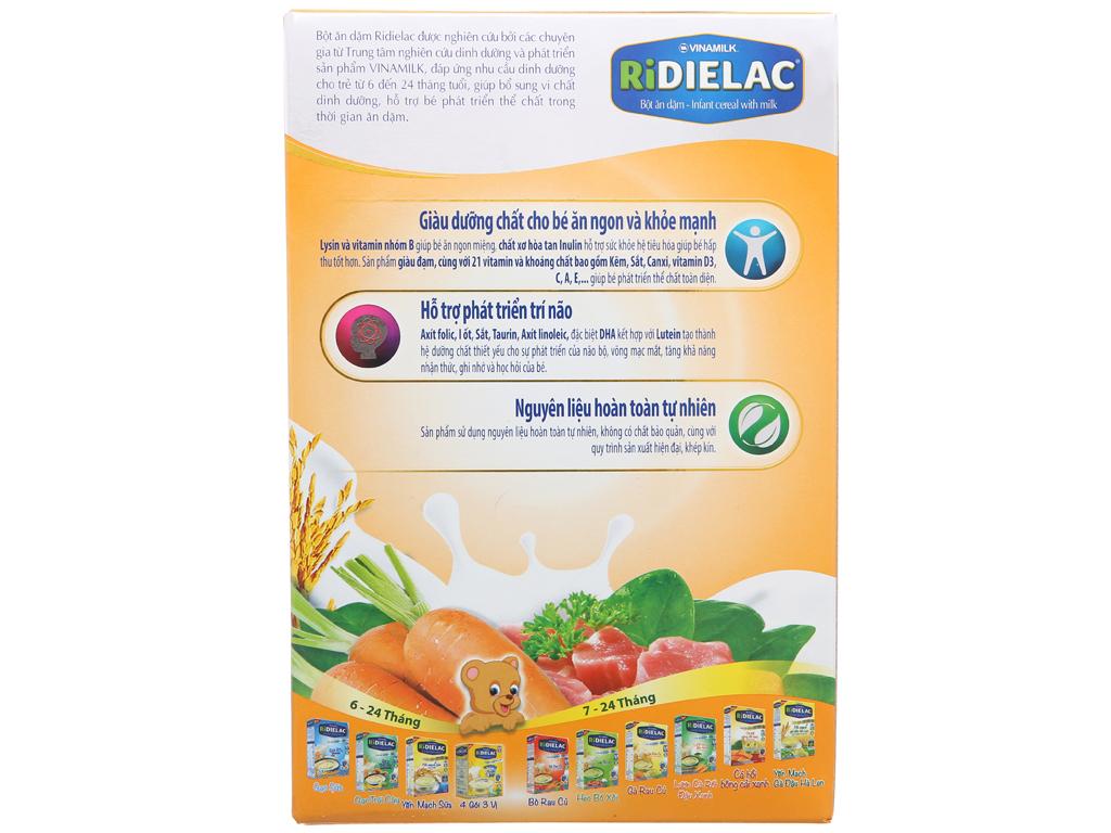 Bột ăn dặm Ridielac heo cà rốt 7 - 24 tháng 200g 3