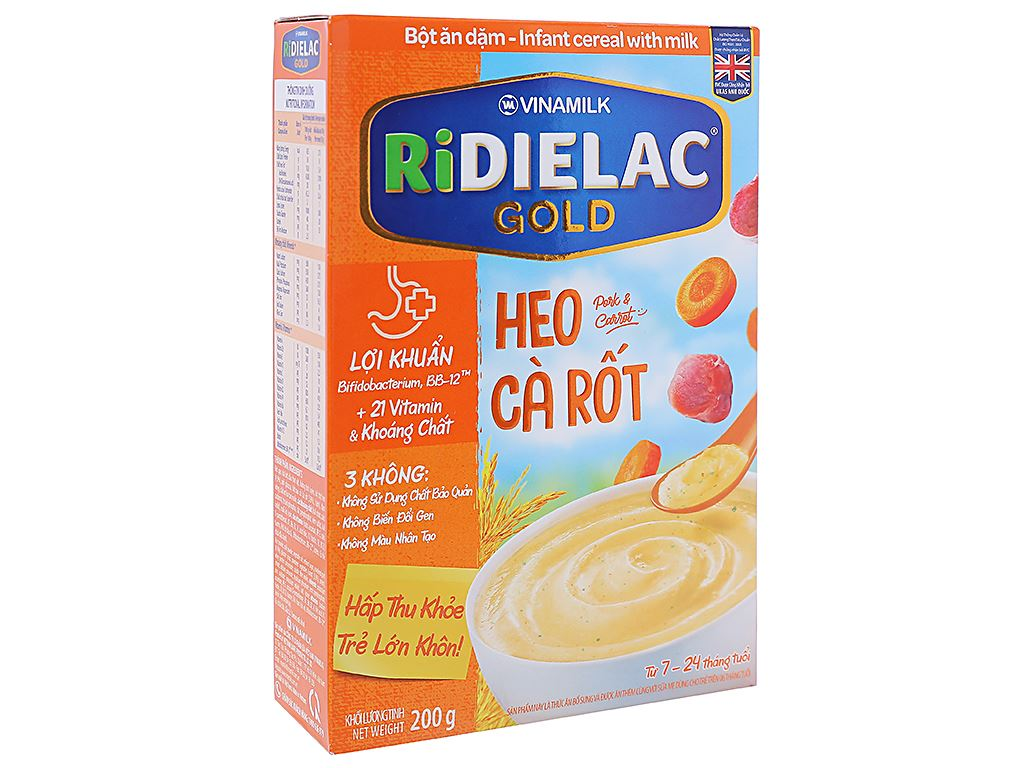 Bột ăn dặm Ridielac heo cà rốt 7 - 24 tháng 200g 1