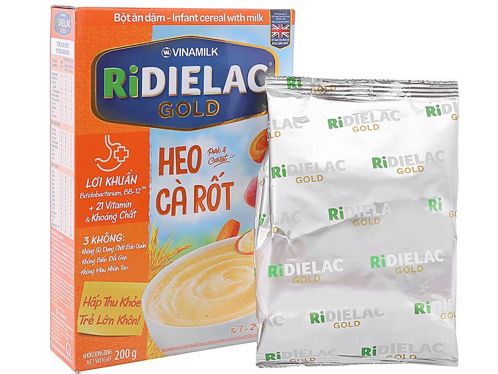 Bột ăn dặm Ridielac heo cà rốt 7 - 24 tháng 200g 4