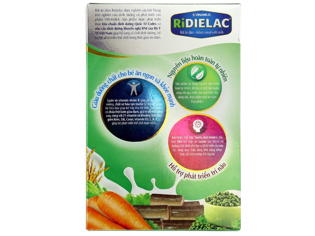 Bột ăn dặm Ridielac Lươn cà rốt đậu xanh 7 - 24 tháng 200g 2