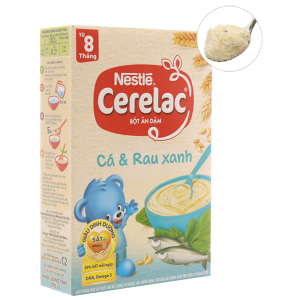 Bột ăn dặm Nestlé Cerelac cá và rau xanh từ 8 tháng 200g