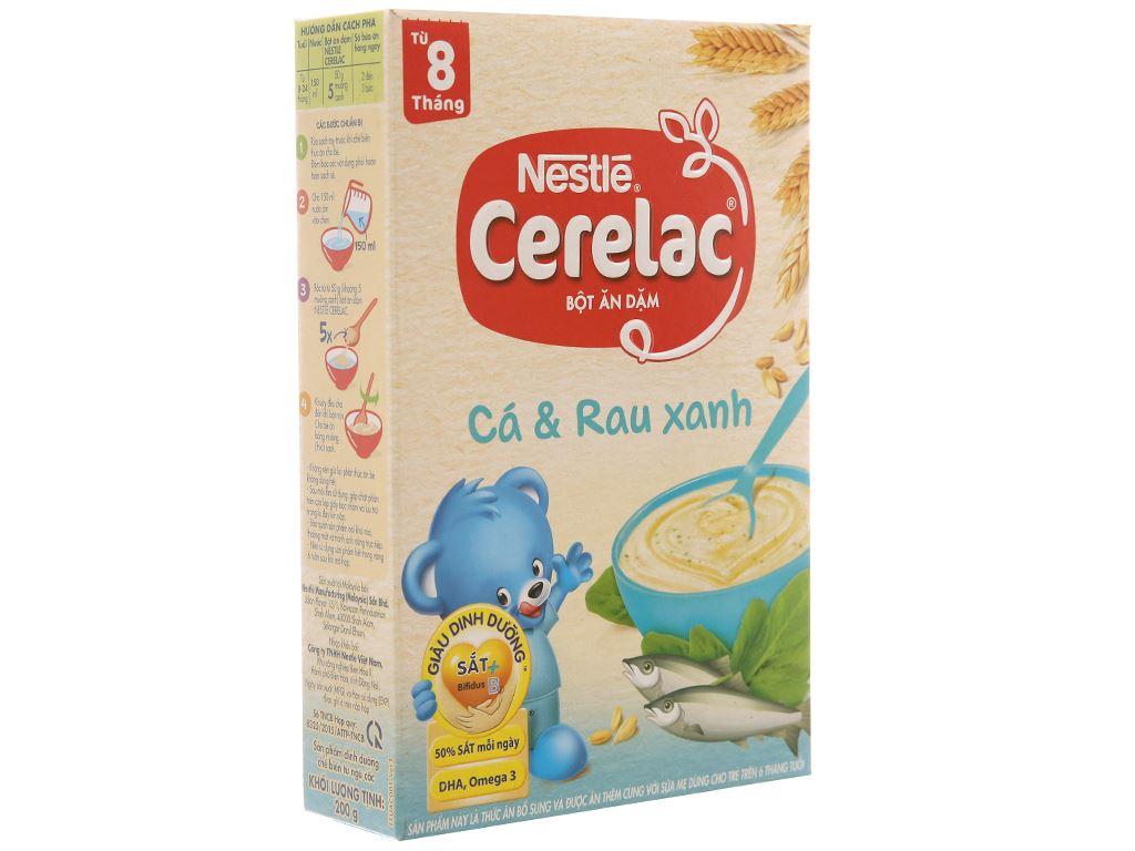 Bột ăn dặm Nestlé Cerelac cá và rau xanh từ 8 tháng 200g 1