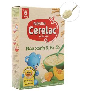 Bột ăn dặm Nestlé Cerelac rau xanh và bí đỏ hộp 200g (từ 6 tháng)