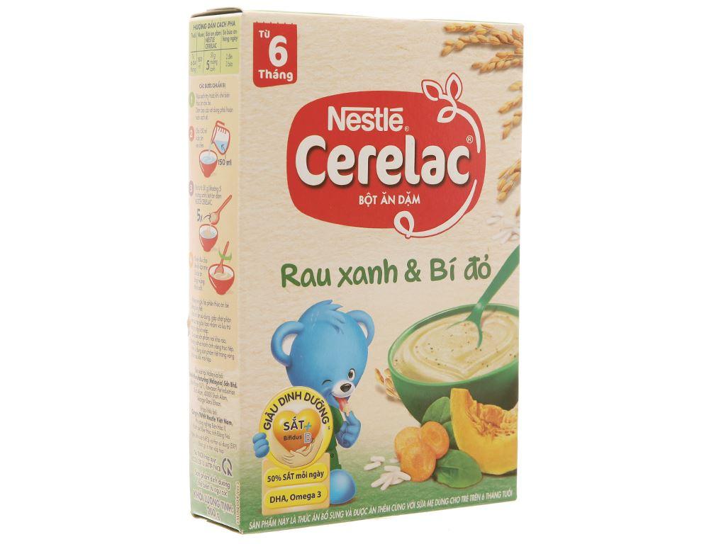 Bột ăn dặm Nestlé Cerelac rau xanh và bí đỏ hộp 200g (từ 6 tháng) 1