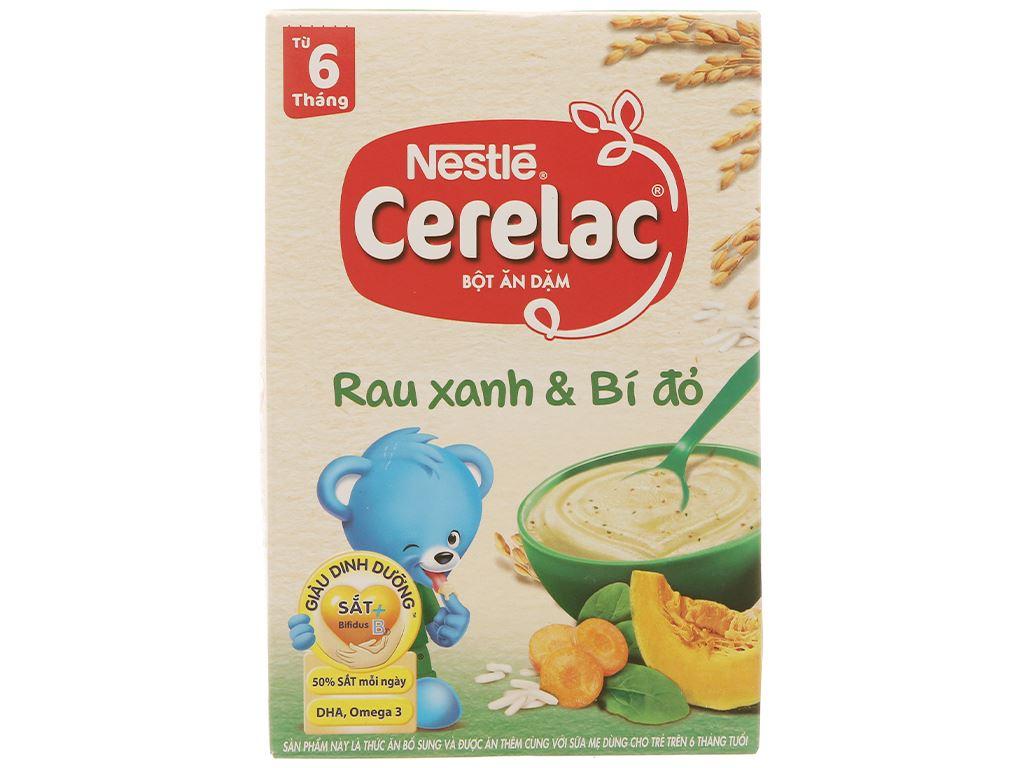 Bột ăn dặm Nestlé Cerelac rau xanh và bí đỏ từ 6 tháng 200g 2