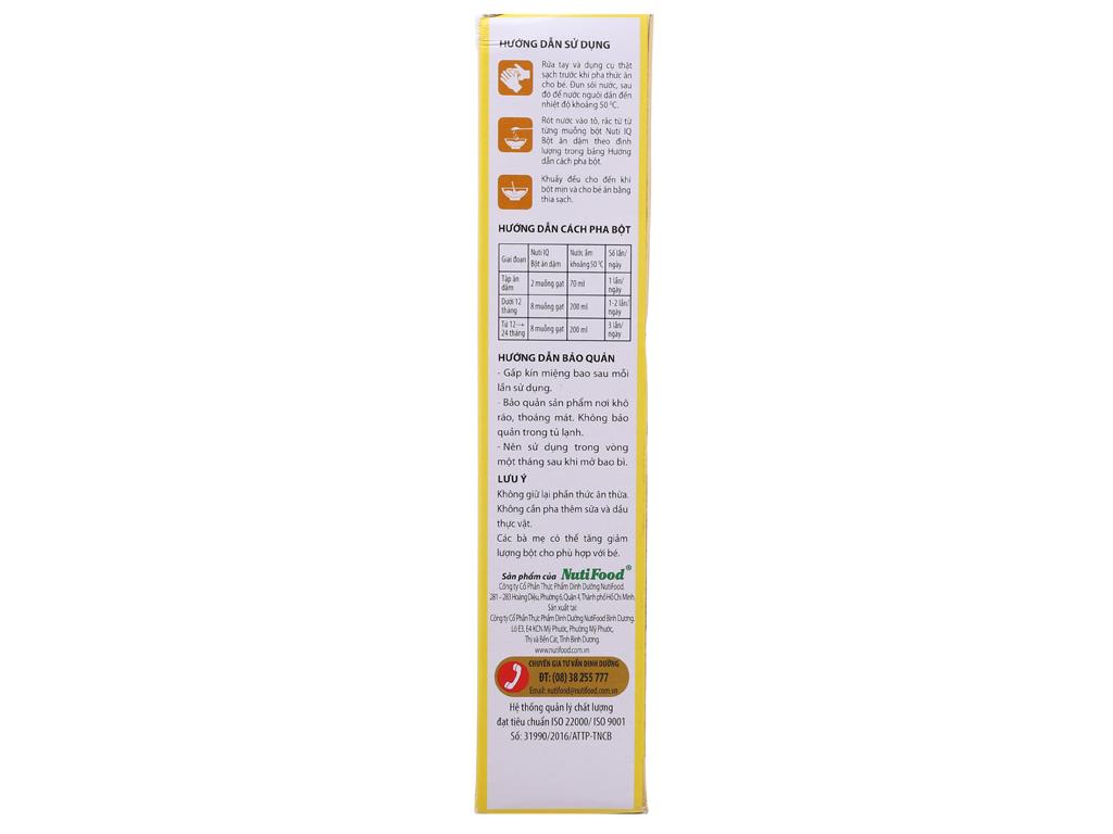 Bột ăn dặm NutiFood Nuti IQ gạo sữa 6 - 24 tháng 200g 3