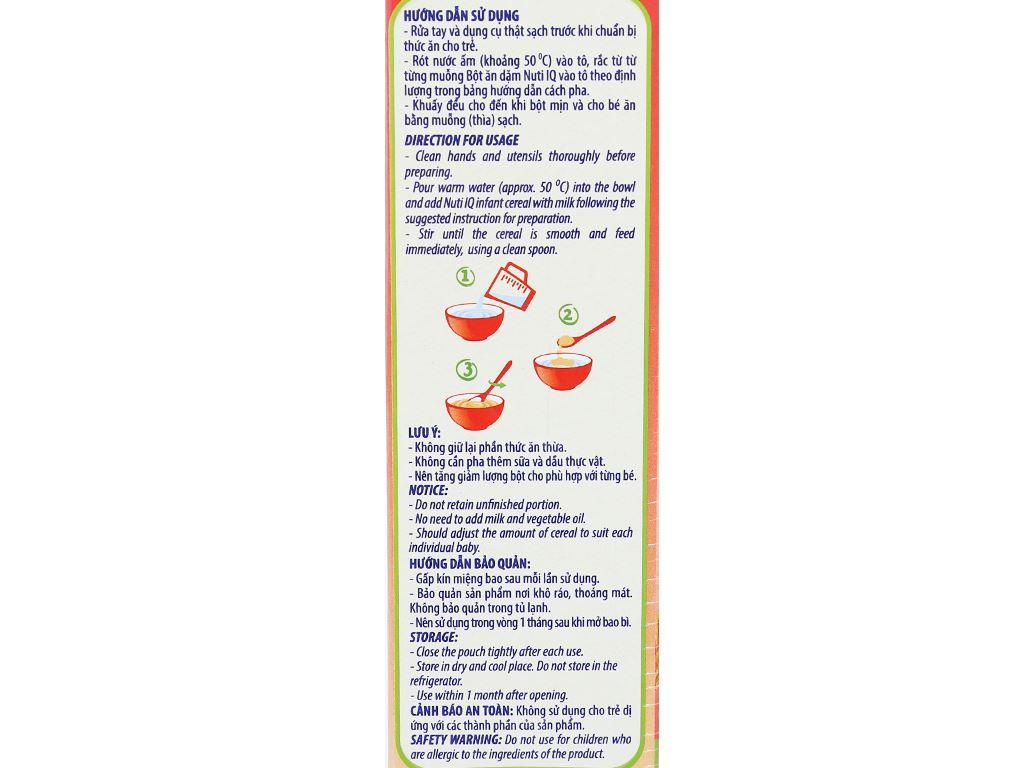 Bột ăn dặm NutiFood Nuti IQ gạo sữa 6 - 24 tháng 200g 8