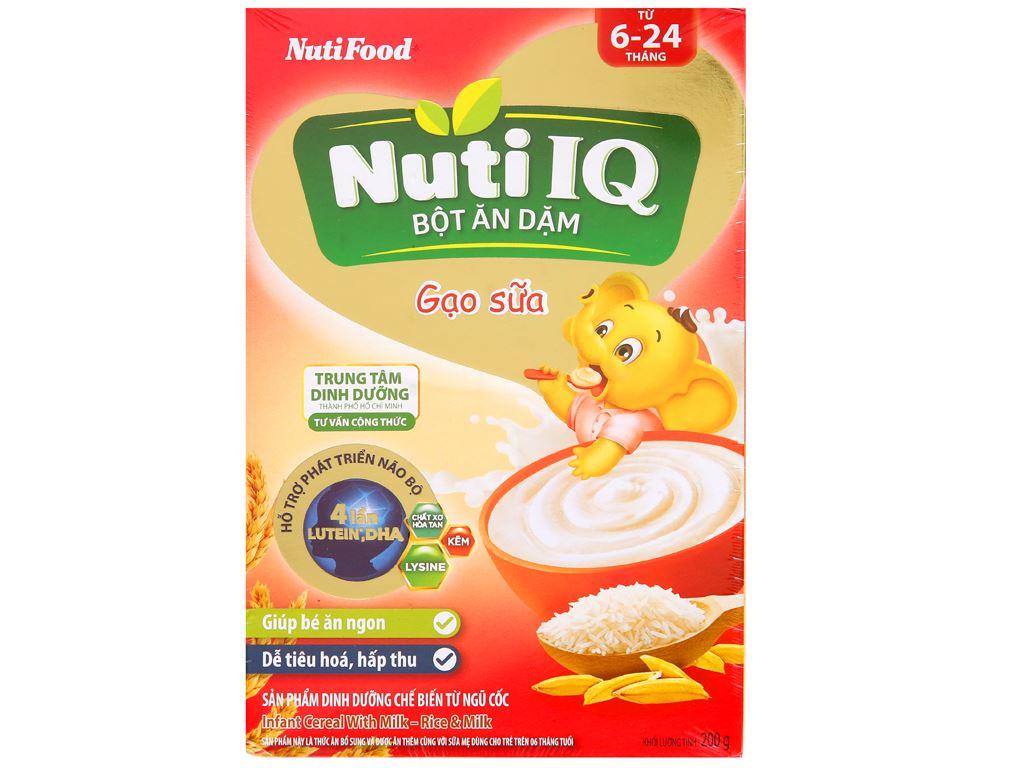 Bột ăn dặm NutiFood Nuti IQ gạo sữa 6 - 24 tháng 200g 1