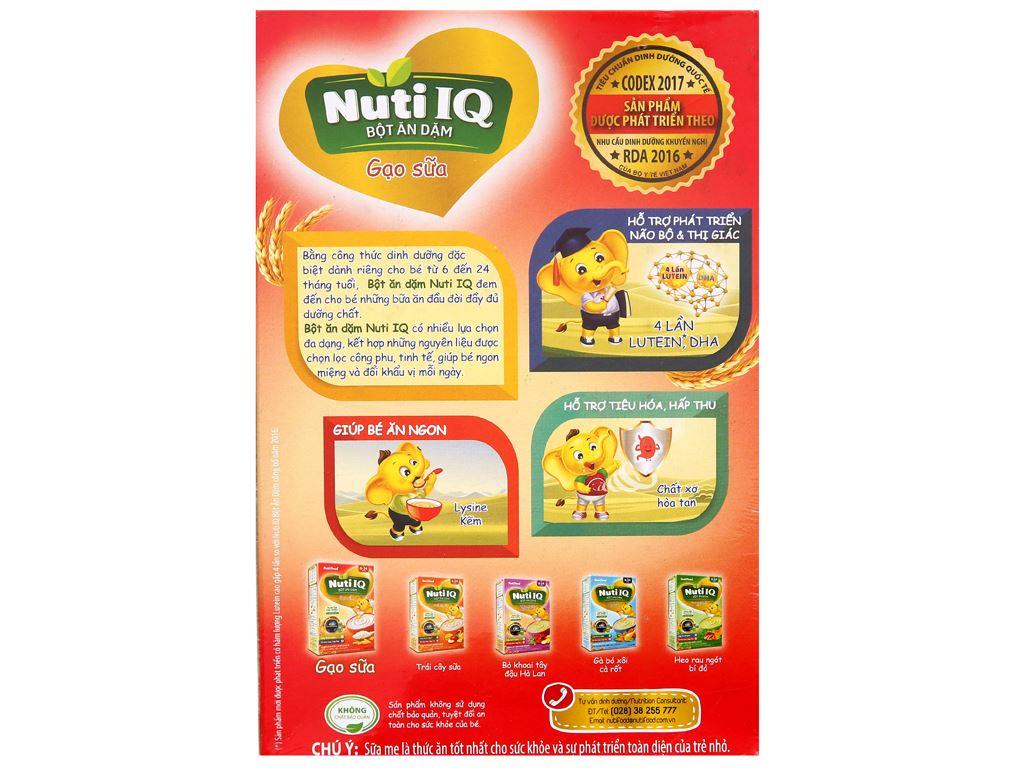 Bột ăn dặm NutiFood Nuti IQ gạo sữa 6 - 24 tháng 200g 2
