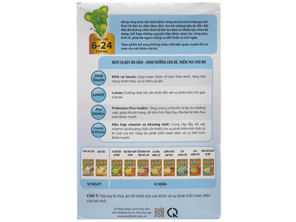 Bột ăn dặm NutiFood Nuti IQ trái cây sữa 6 - 24 tháng 200g 2