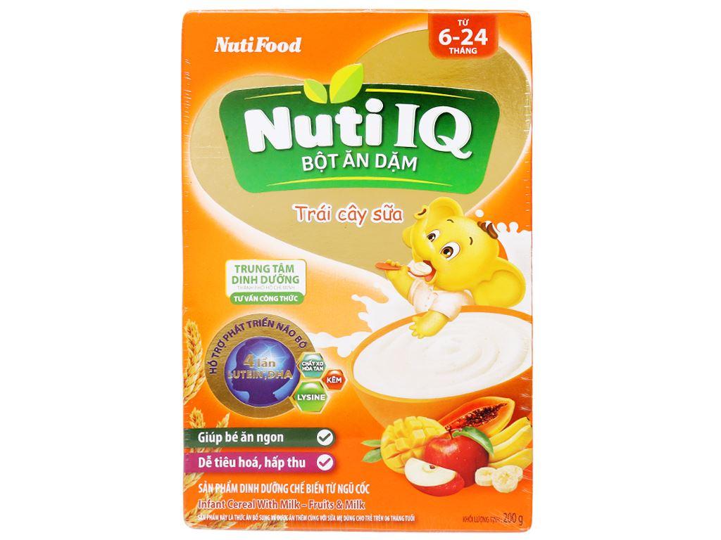 Bột ăn dặm NutiFood Nuti IQ trái cây sữa hộp 200g (6 - 24 tháng) 1