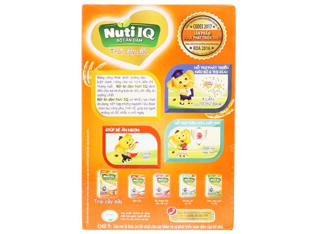 Bột ăn dặm NutiFood Nuti IQ trái cây sữa hộp 200g (6 - 24 tháng) 2