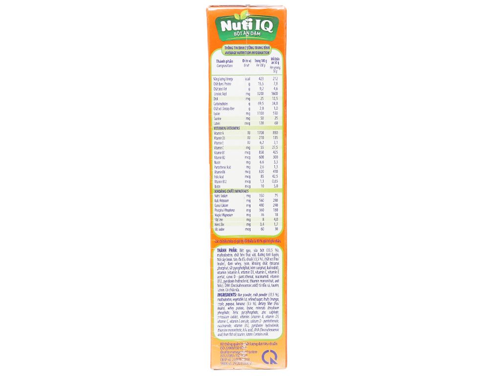 Bột ăn dặm NutiFood Nuti IQ trái cây sữa hộp 200g (6 - 24 tháng) 3