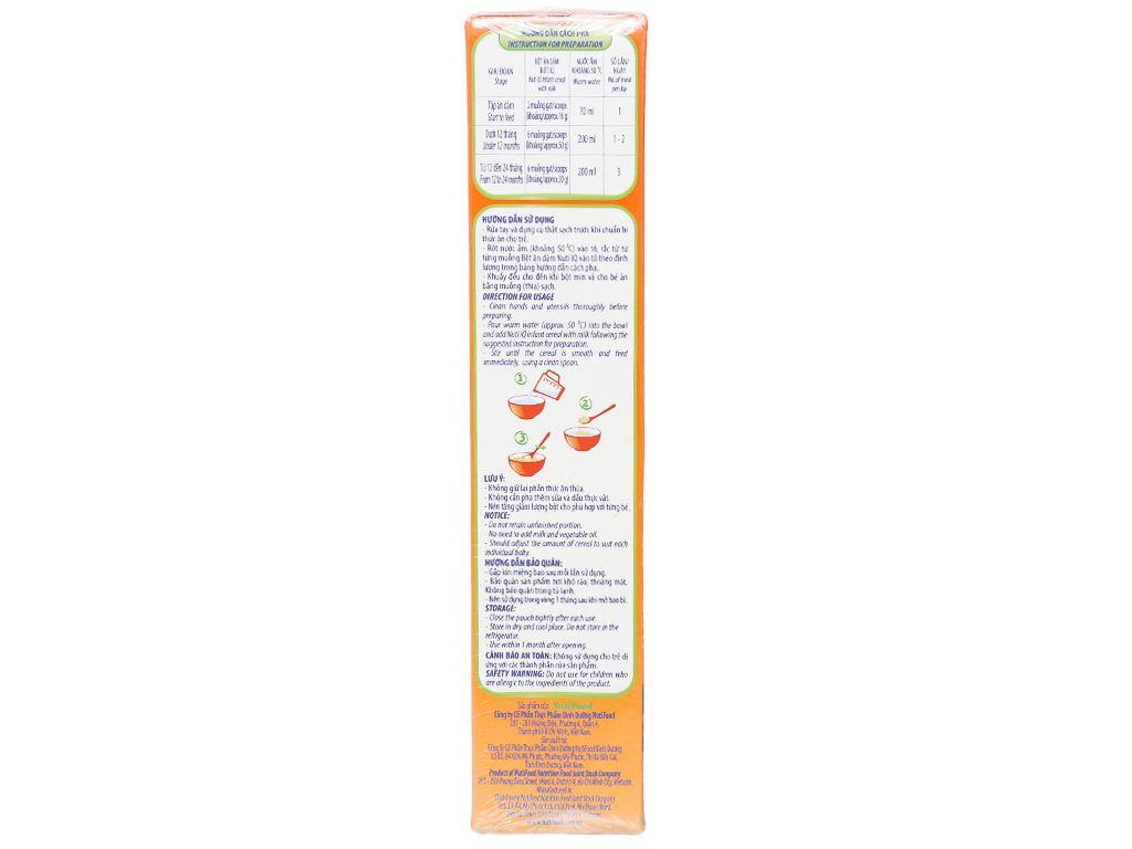 Bột ăn dặm NutiFood Nuti IQ trái cây sữa hộp 200g (6 - 24 tháng) 4