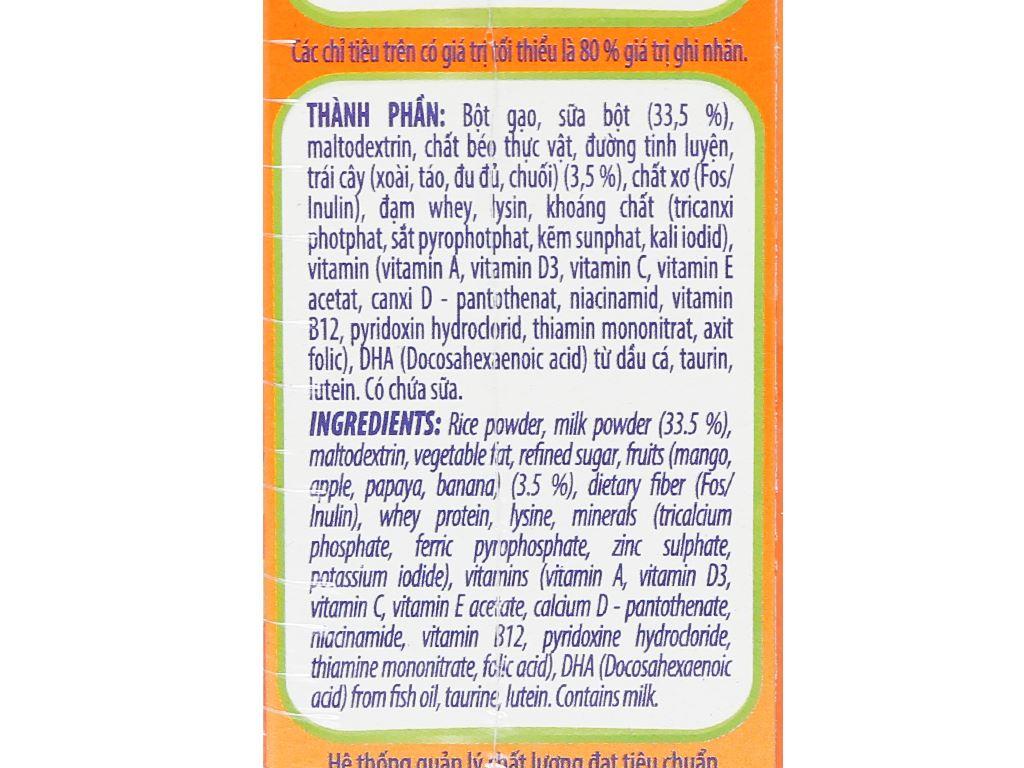Bột ăn dặm NutiFood Nuti IQ trái cây sữa hộp 200g (6 - 24 tháng) 6