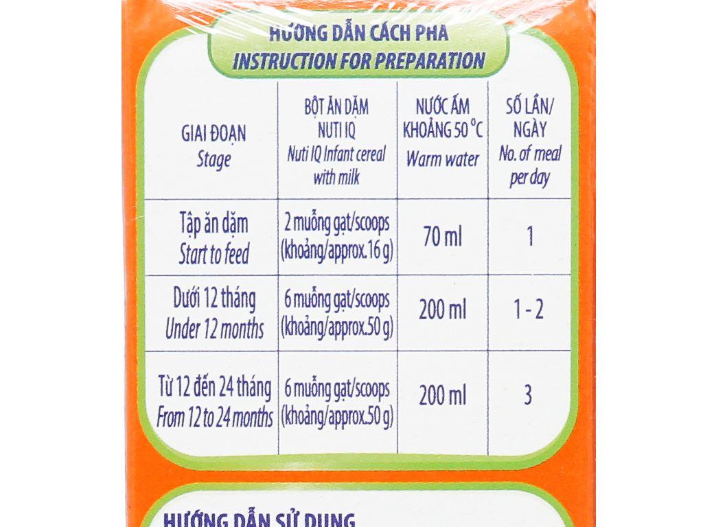 Bột ăn dặm NutiFood Nuti IQ trái cây sữa hộp 200g (6 - 24 tháng) 7