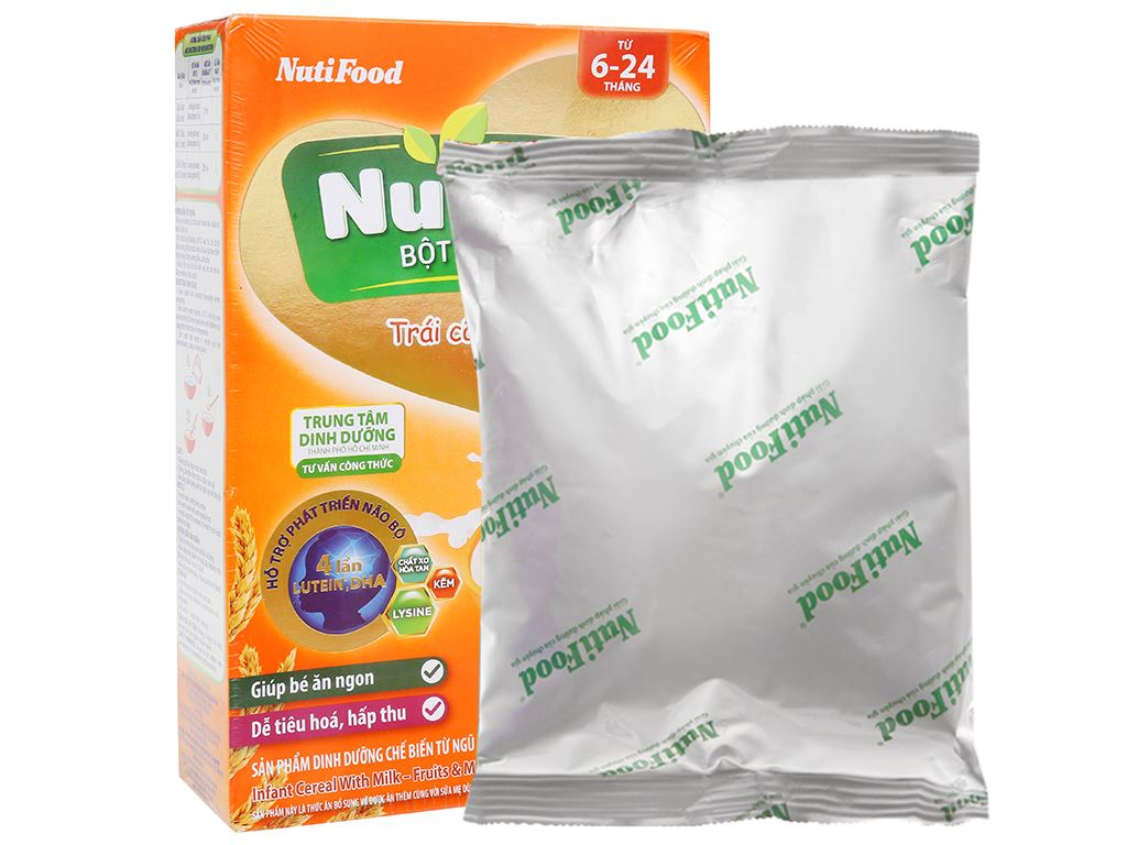 Bột ăn dặm NutiFood Nuti IQ trái cây sữa hộp 200g (6 - 24 tháng) 9
