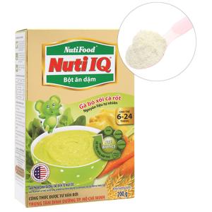 Bột ăn dặm NutiFood Nuti IQ gà, bó xôi, cà rốt 6 - 24 tháng 200g