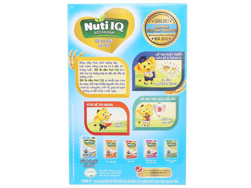 Bột ăn dặm NutiFood Nuti IQ gà bó xôi cà rốt 6 - 24 tháng 200g 2