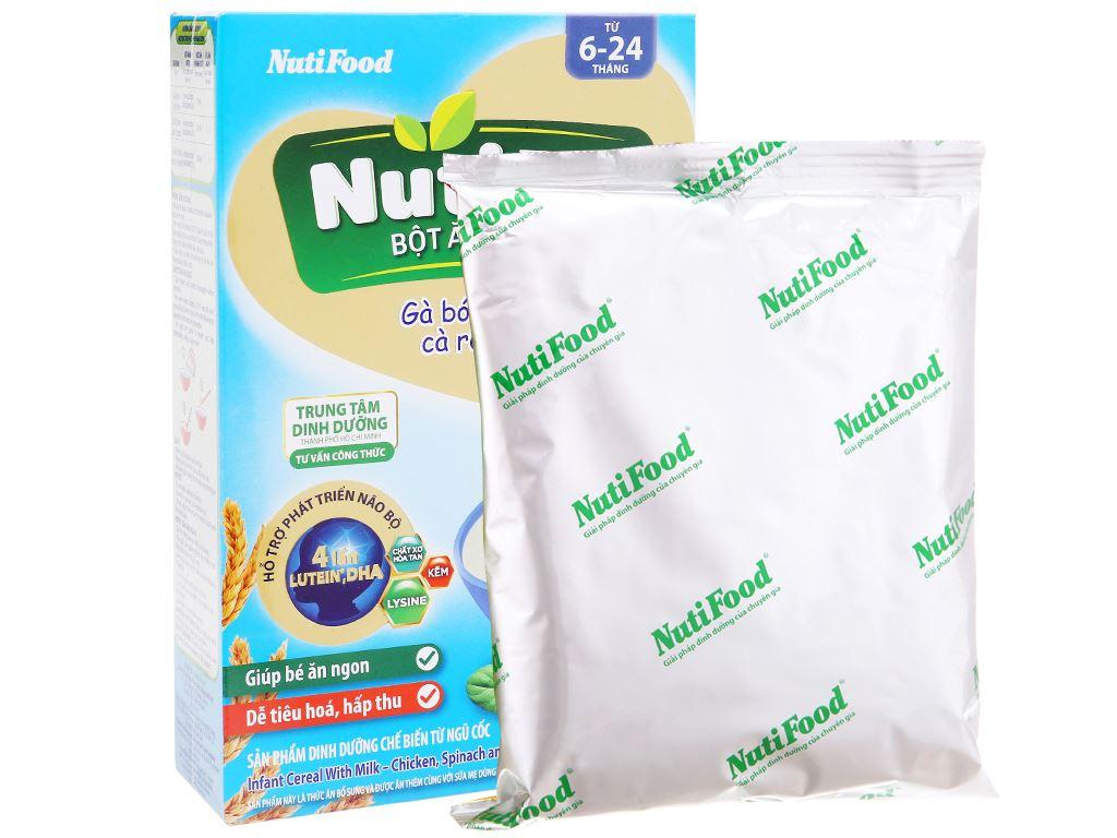 Bột ăn dặm NutiFood Nuti IQ gà bó xôi cà rốt hộp 200g (6 - 24 tháng) 9
