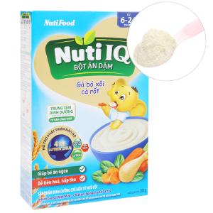 Bột ăn dặm NutiFood Nuti IQ gà bó xôi cà rốt hộp 200g (6 - 24 tháng)