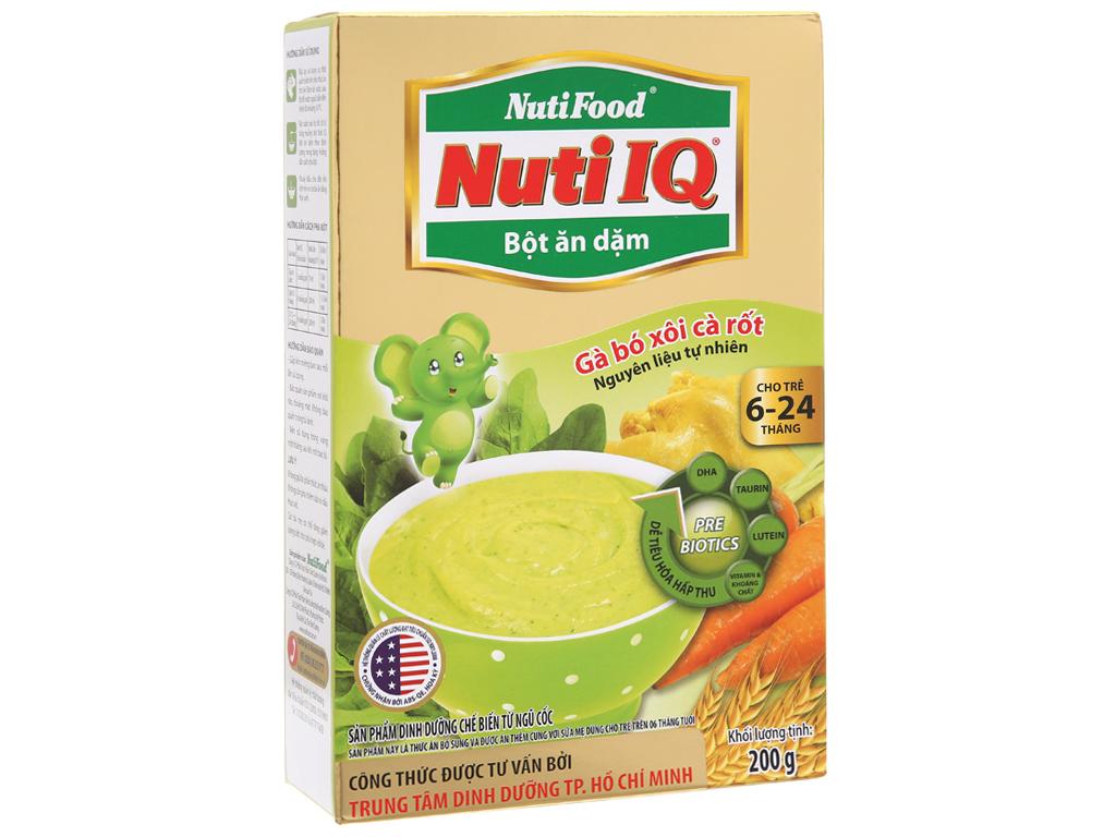 Bột ăn dặm NutiFood Nuti IQ gà, bó xôi, cà rốt 6 - 24 tháng 200g 2