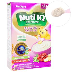 Bột ăn dặm NutiFood Nuti IQ bò khoai tây đậu hà lan hộp 200g (6 - 24 tháng)