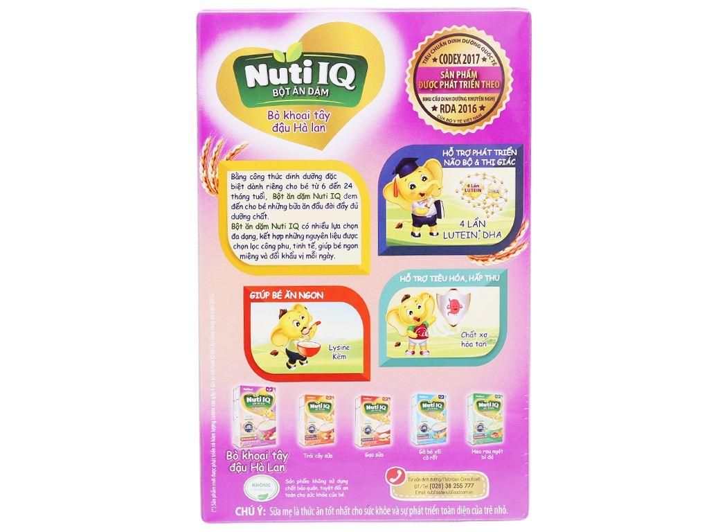 Bột ăn dặm NutiFood Nuti IQ bò khoai tây đậu hà lan hộp 200g (6 - 24 tháng) 2