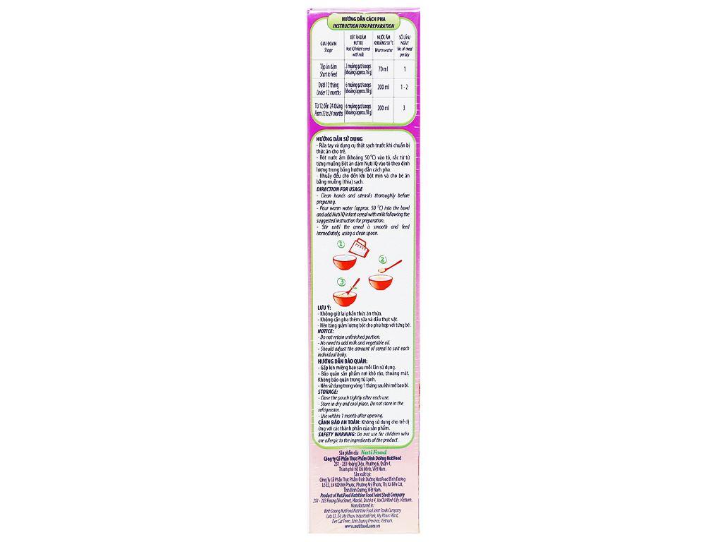 Bột ăn dặm NutiFood Nuti IQ bò khoai tây đậu hà lan hộp 200g (6 - 24 tháng) 4