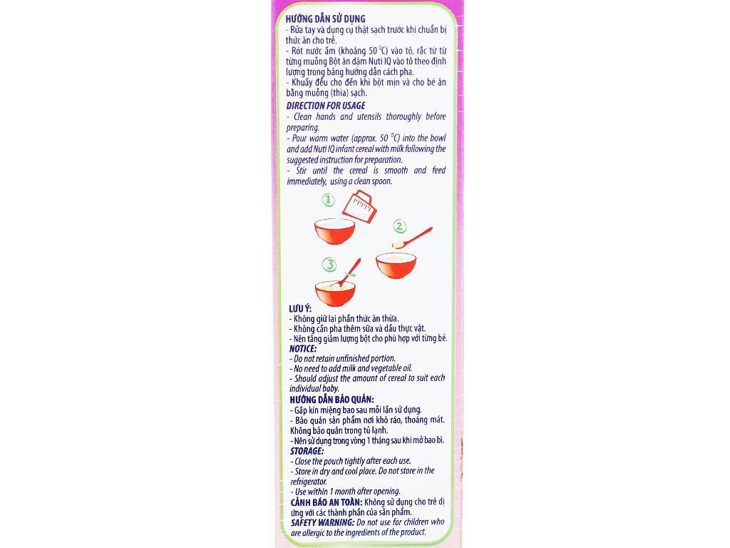 Bột ăn dặm NutiFood Nuti IQ bò khoai tây đậu hà lan hộp 200g (6 - 24 tháng) 8