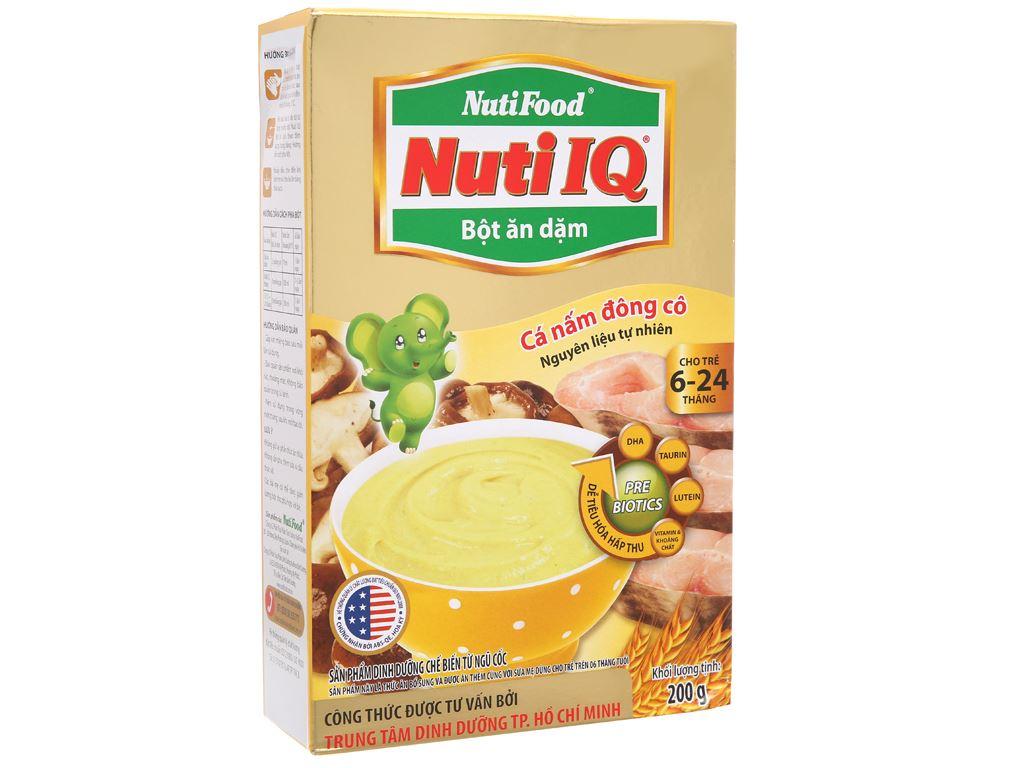 Bột ăn dặm NutiFood Nuti IQ cá nấm đông cô 6 - 24 tháng 200g 2