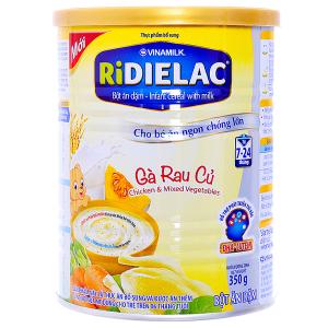 Bột ăn dặm Ridielac yến mạch gà đậu hà lan lon 350g (7 - 24 tháng)