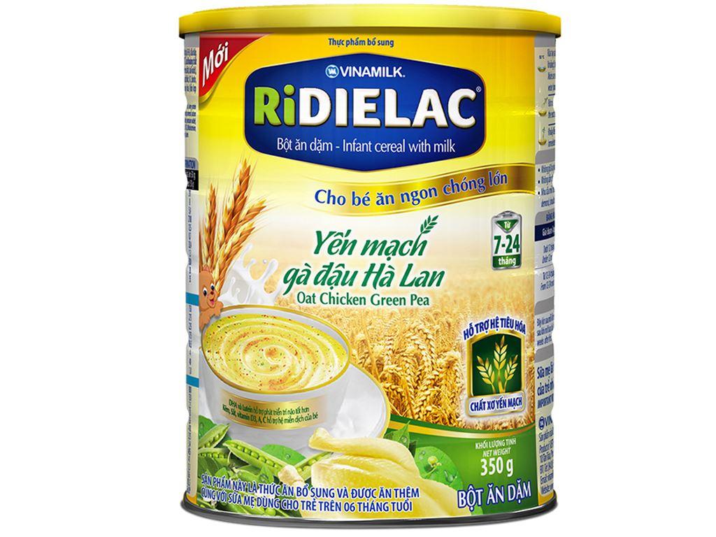 Bột ăn dặm Ridielac yến mạch gà đậu hà lan 7 - 24 tháng 350g 1