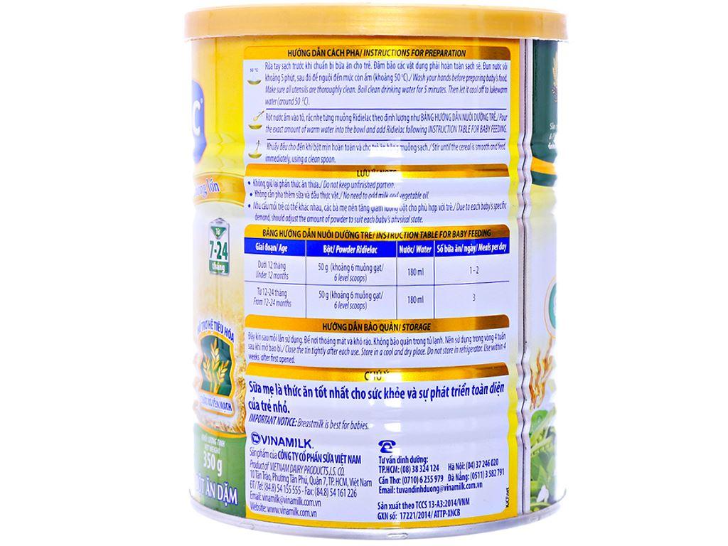 Bột ăn dặm Ridielac yến mạch gà đậu hà lan 7 - 24 tháng 350g 2