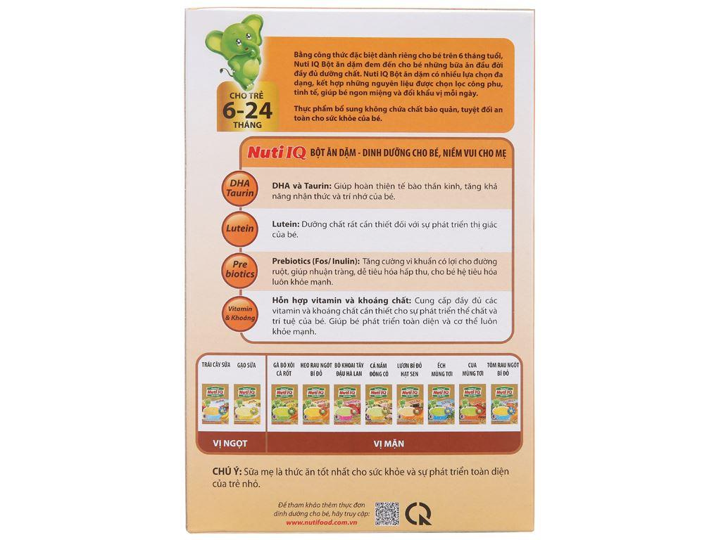 Bột ăn dặm NutiFood Nuti IQ lươn bí đỏ hạt sen hộp 200g (6 - 24 tháng) 3