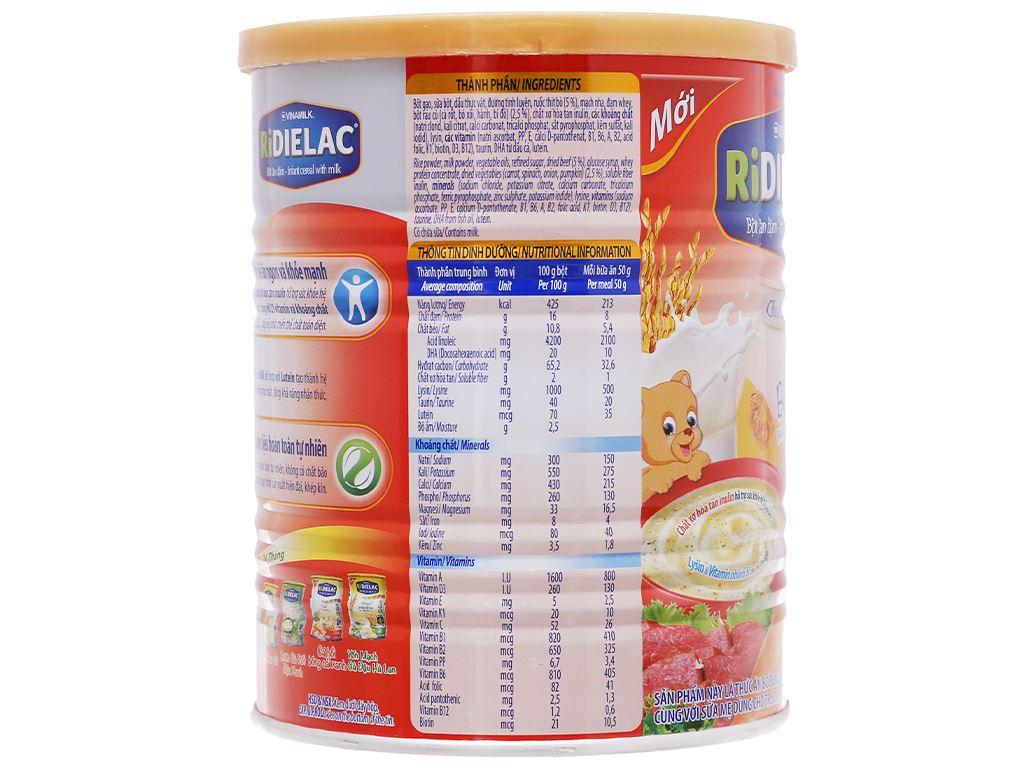 Bột ăn dặm Ridielac bò rau củ lon 350g (7 - 24 tháng) 4