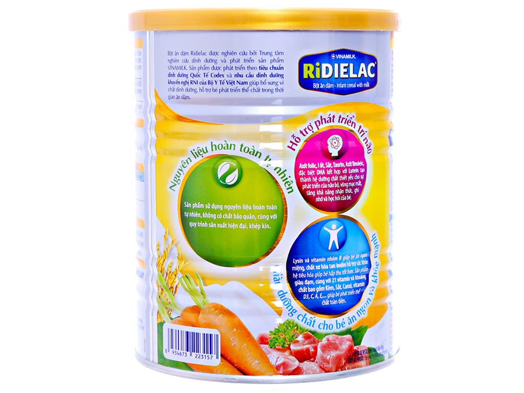Bột ăn dặm Ridielac heo cà rốt 7 - 24 tháng 350g 4
