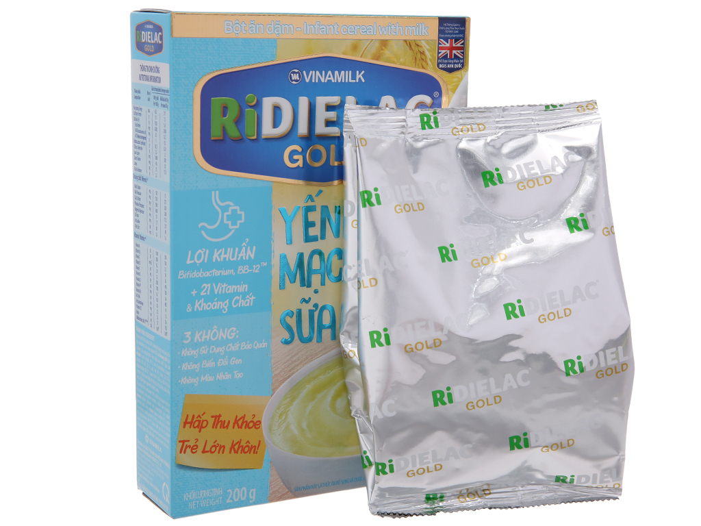 Bột ăn dặm Ridielac yến mạch sữa 6 - 24 tháng 200g 4