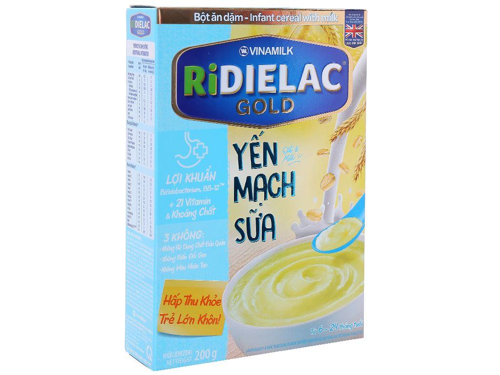 Bột ăn dặm Ridielac yến mạch sữa 6 - 24 tháng 200g 1