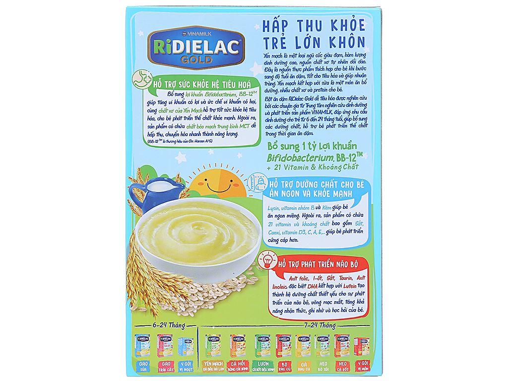 Bột ăn dặm Ridielac yến mạch sữa 6 - 24 tháng 200g 2