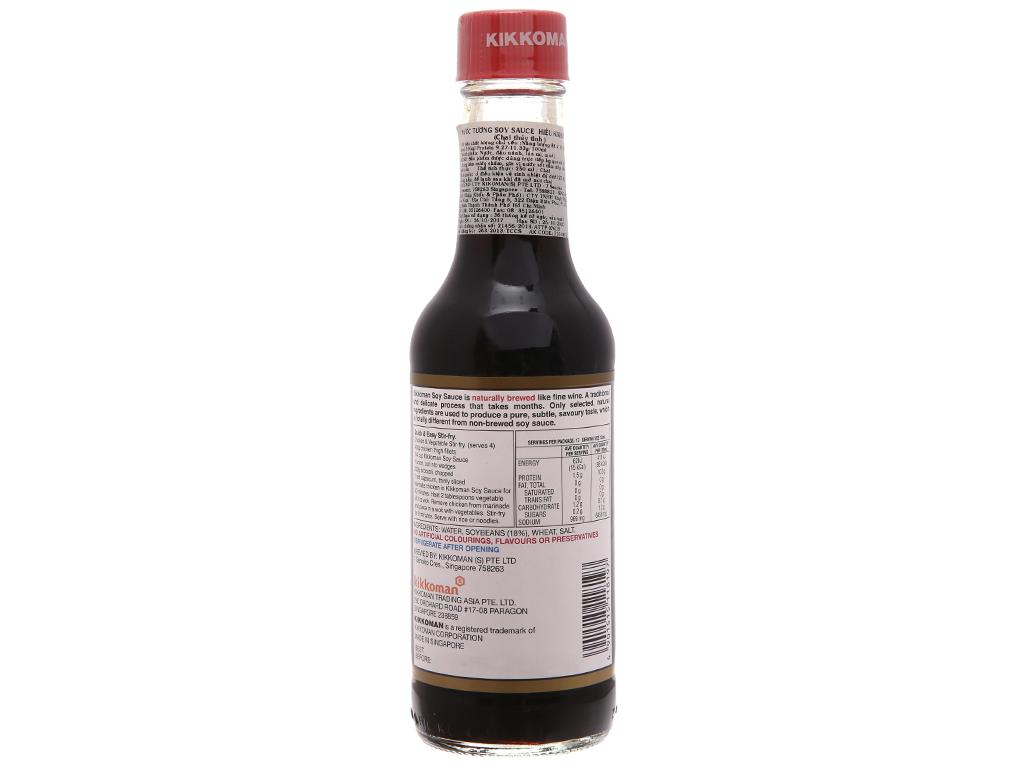 Nước tương hương vị Nhật Bản Kikkoman chai 250ml 2