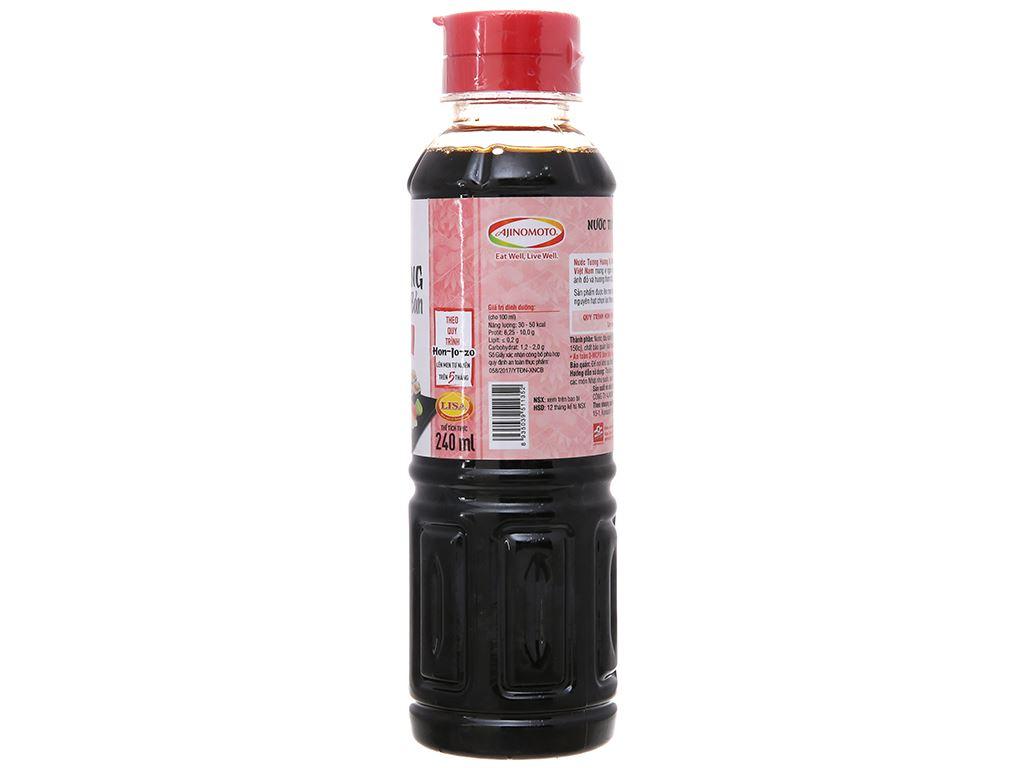 Nước tương hương vị Nhật Bản Ajinomoto chai 240ml 2