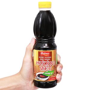 Nước tương đậu nành thanh vị Hương Việt chai 500ml