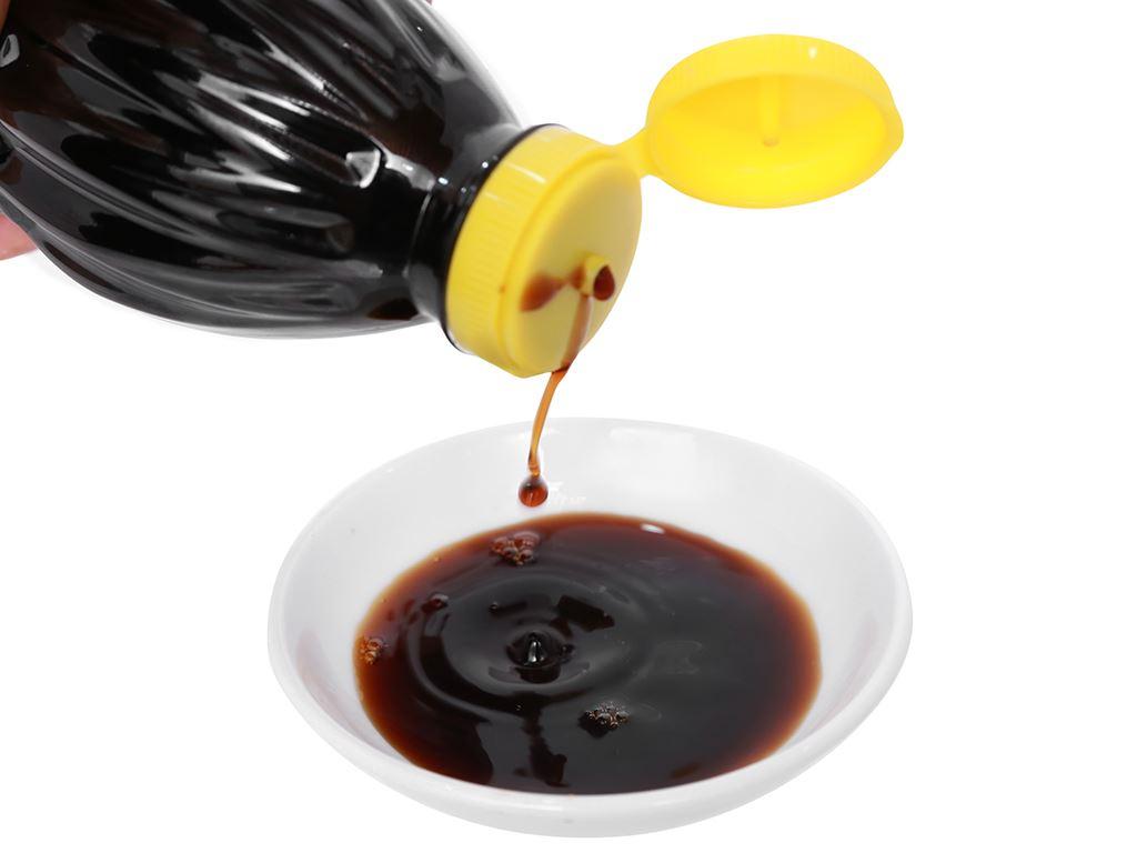 Nước tương đậu nành thanh vị Hương Việt chai 500ml 9