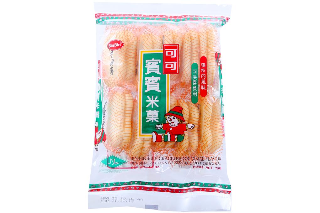 Bánh gạo BinBin vị nguyên chất gói 75g