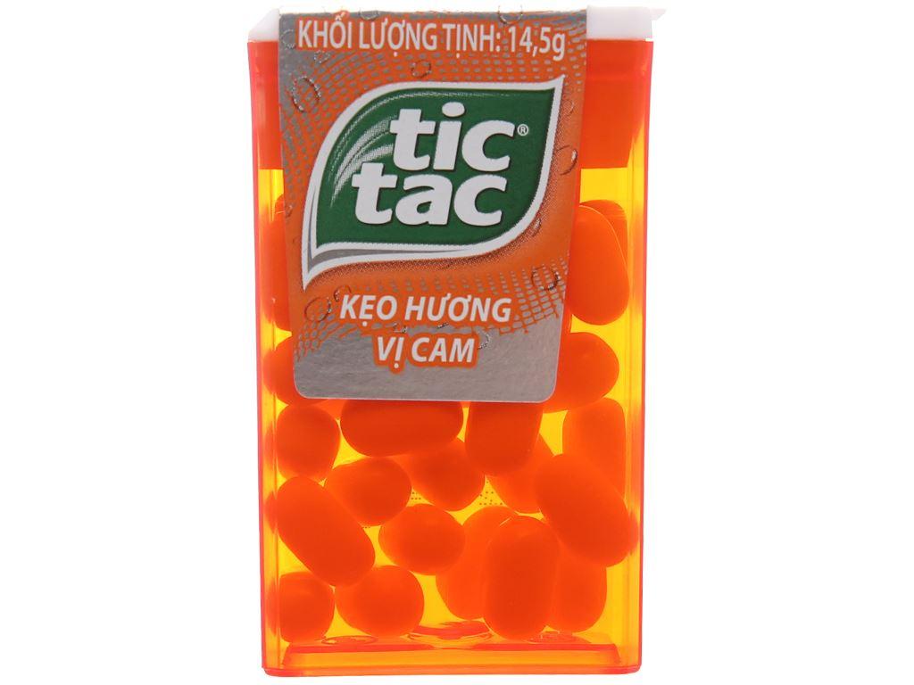 Kẹo ngậm hương vị cam Tic Tac hộp 14.5g 2